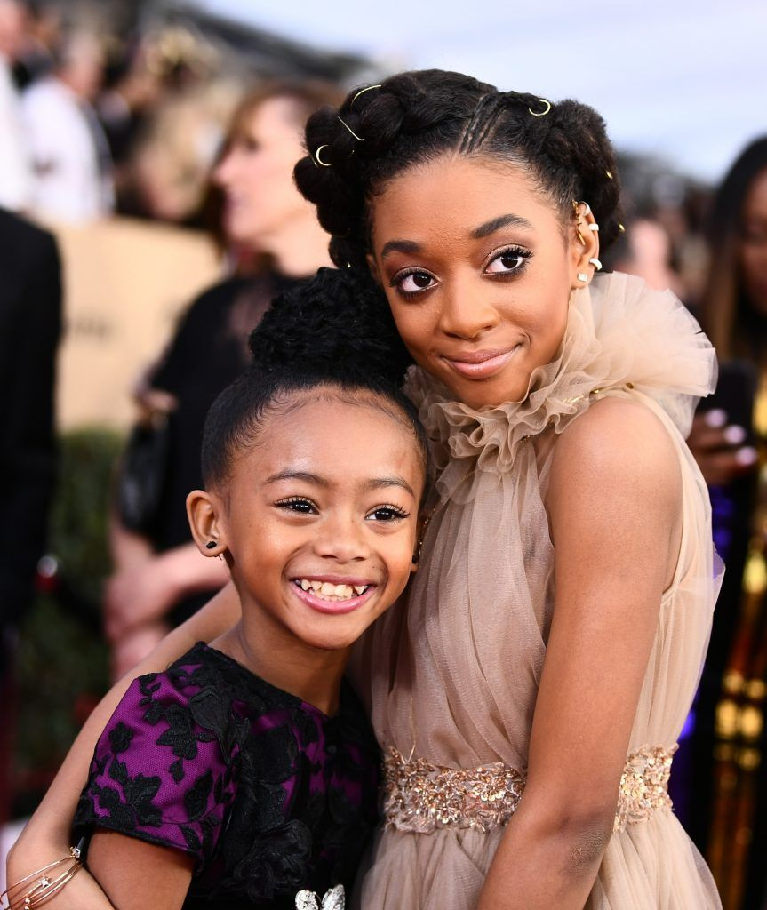 LOS ANGELES, CA - JANUARY 21:  Actors Faithe Herman (L) and Eris Baker attend the 24th Annual Screen Actors Guild Awards at The Shrine Auditorium on January 21, 2018 in Los Angeles, California. 27522_011  (Photo by Emma McIntyre/Getty Images for Turner Image)