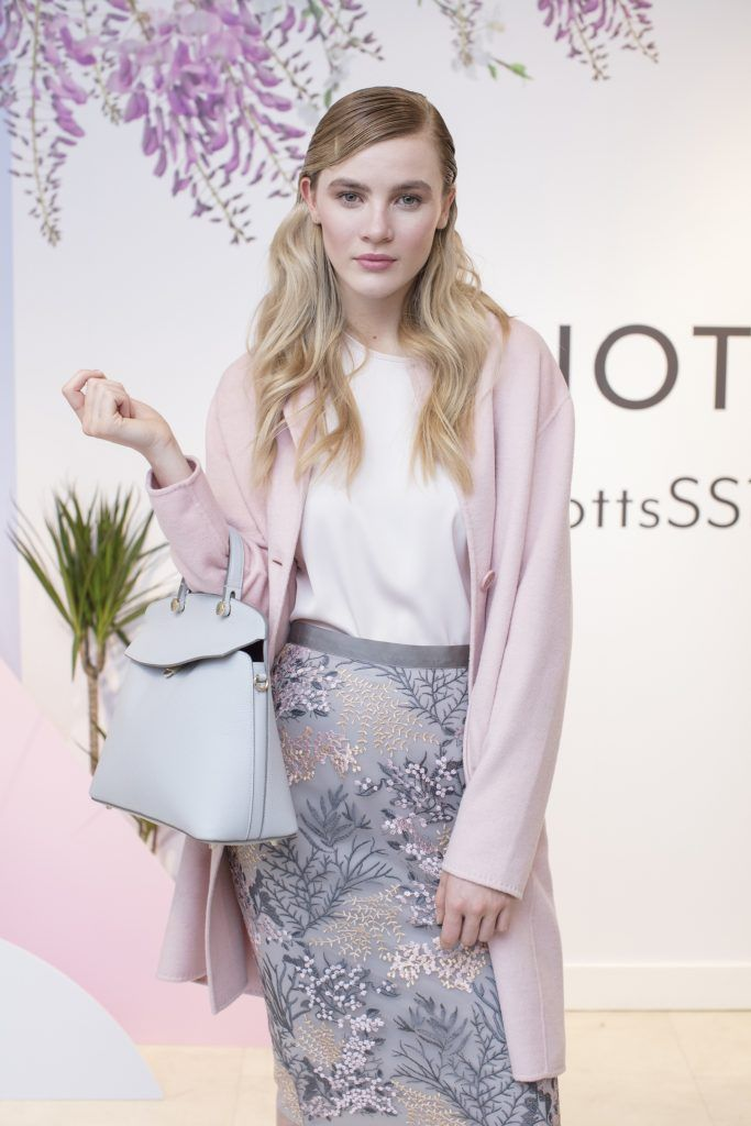 Phoebe Tan pictured at the launch of the Arnotts Spring/Summer '18 collection. Photo: Anthony Woods