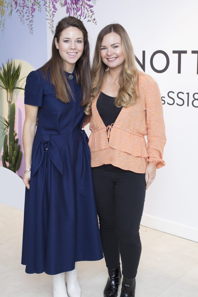 Claudine McDonagh & Aisling Fowler pictured at the launch of the Arnotts Spring/Summer '18 collection. Photo: Anthony Woods