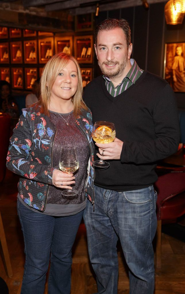 Carol and Phil Wharton at the relaunch of the lounge bar and Boss Crokers snug bar at Sandyford House in Sandyford Village, Dublin 18 (1st February 2018). Picture by Andres Poveda