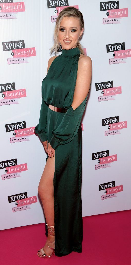Keilidh Cashell at the inaugural Xpose Benefit Awards that took place in The Mansion House, Dublin to celebrate the best in fashion and entertainment in Ireland. Picture: Brian McEvoy