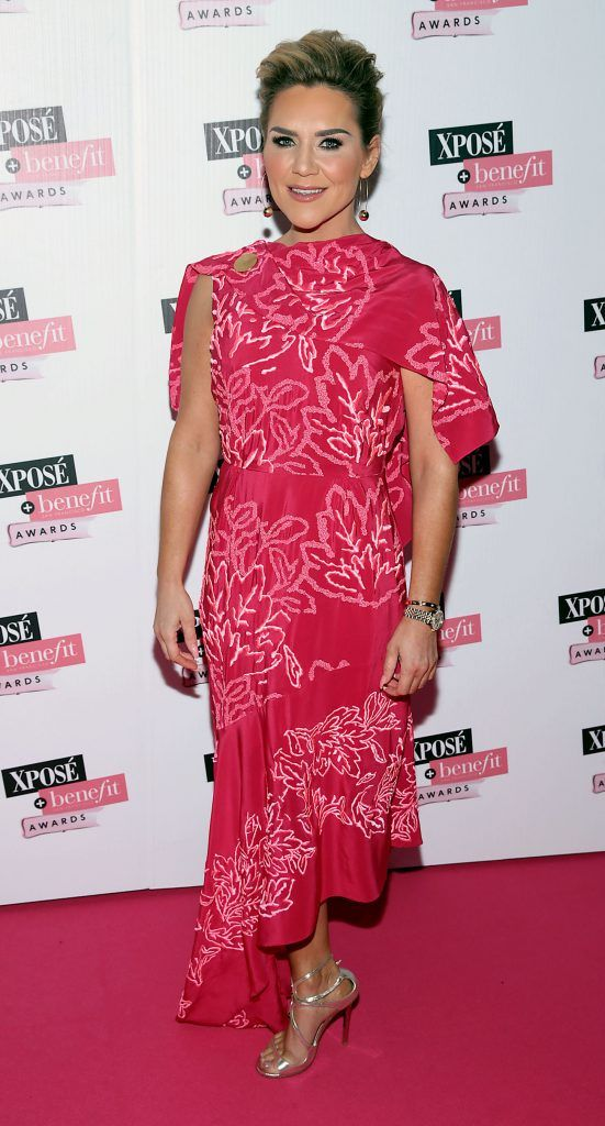 Erin McGregor at the inaugural Xpose Benefit Awards that took place in The Mansion House, Dublin to celebrate the best in fashion and entertainment in Ireland. Picture: Brian McEvoy