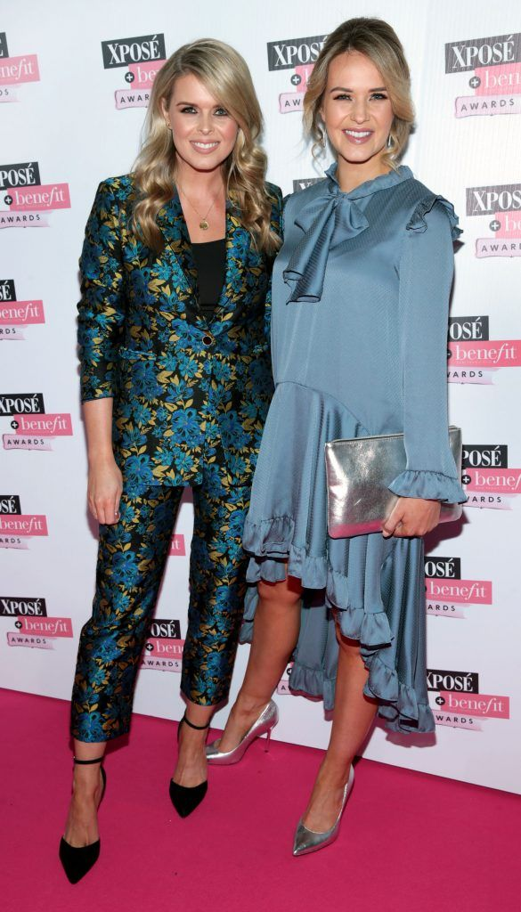 Ailbhe Garrihy and Aoibhin Garrihy at the inaugural Xpose Benefit Awards that took place in The Mansion House, Dublin to celebrate the best in fashion and entertainment in Ireland. Picture: Brian McEvoy