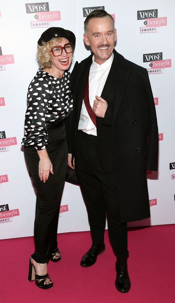 Sonya Lennon and Brendan Courtney at the inaugural Xpose Benefit Awards that took place in The Mansion House, Dublin to celebrate the best in fashion and entertainment in Ireland. Picture: Brian McEvoy