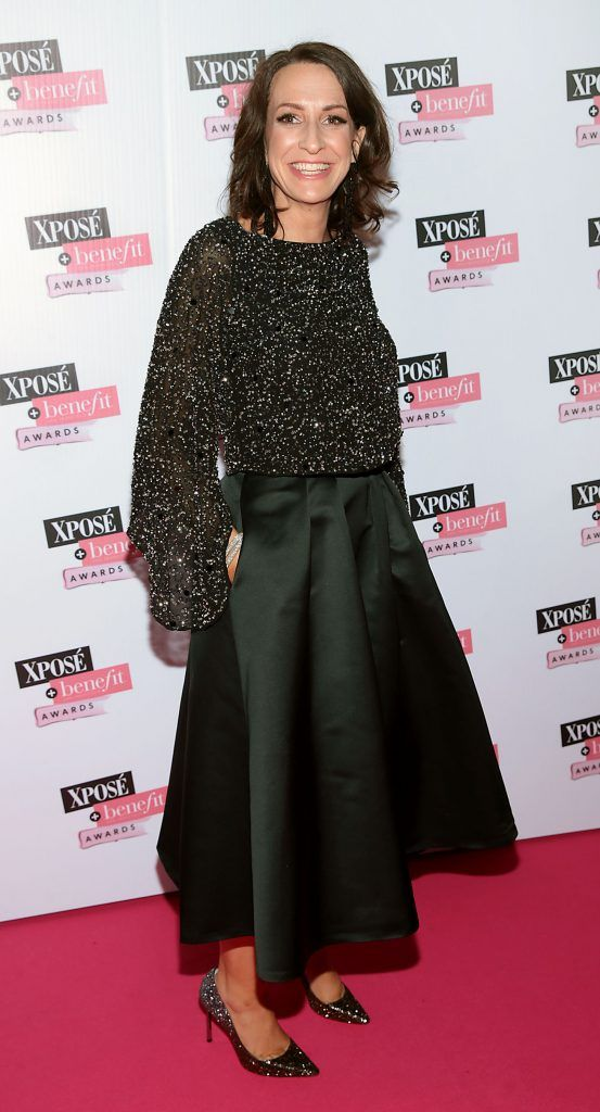 Vicky Byrne at the inaugural Xpose Benefit Awards that took place in The Mansion House, Dublin to celebrate the best in fashion and entertainment in Ireland. Picture: Brian McEvoy