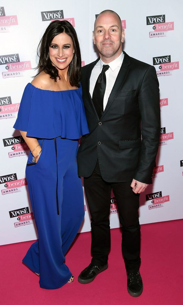 Lucy Kennedy and Bill Malone at the inaugural Xpose Benefit Awards that took place in The Mansion House, Dublin to celebrate the best in fashion and entertainment in Ireland. Picture: Brian McEvoy