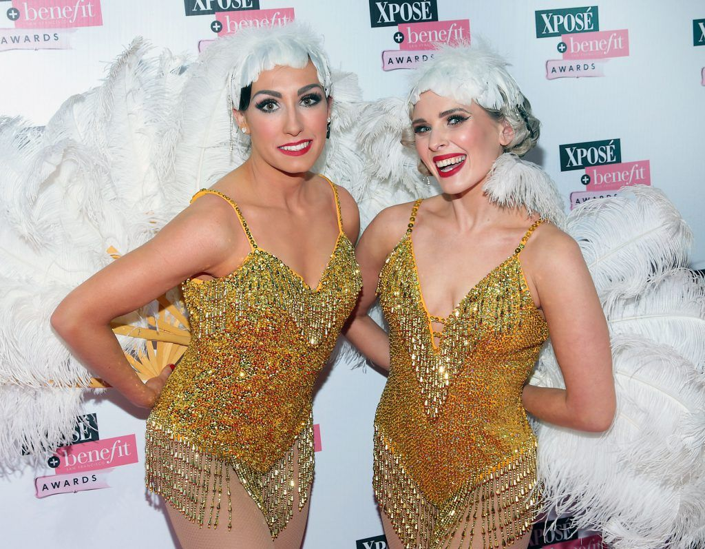 Lizzy Benham and Lindsay Cowap  of Fatale Follie at the inaugural Xpose Benefit Awards that took place in The Mansion House, Dublin to celebrate the best in fashion and entertainment in Ireland. Picture: Brian McEvoy