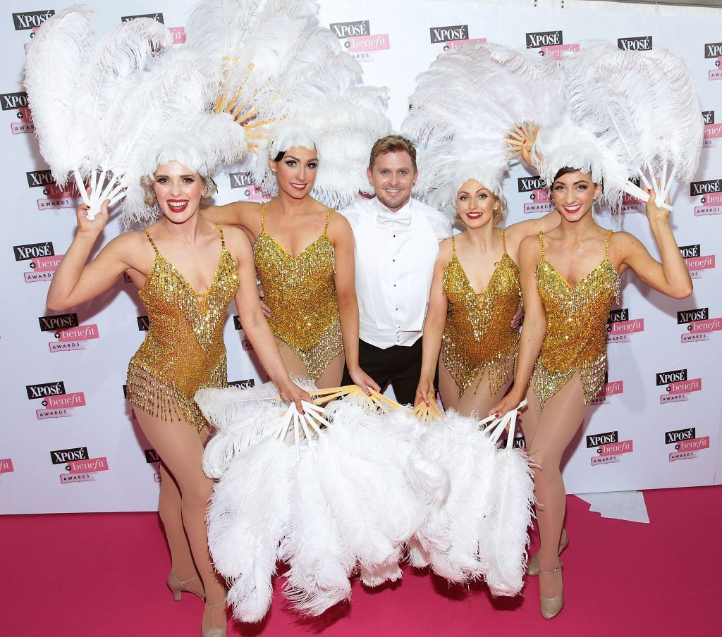 Members of Fatale Follie at the inaugural Xpose Benefit Awards that took place in The Mansion House, Dublin to celebrate the best in fashion and entertainment in Ireland. Picture: Brian McEvoy