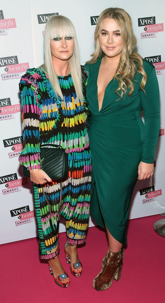 Helen Steele and Halle Steele at the inaugural Xpose Benefit Awards that took place in The Mansion House, Dublin to celebrate the best in fashion and entertainment in Ireland. Picture: Brian McEvoy
