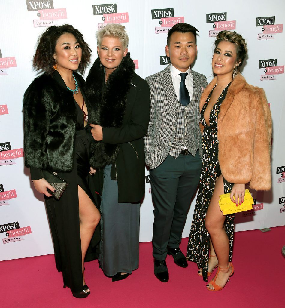Judy wong, Timoa Stoilowa ,Roy Wong and Amanda Wong at the inaugural Xpose Benefit Awards that took place in The Mansion House, Dublin to celebrate the best in fashion and entertainment in Ireland. Picture: Brian McEvoy