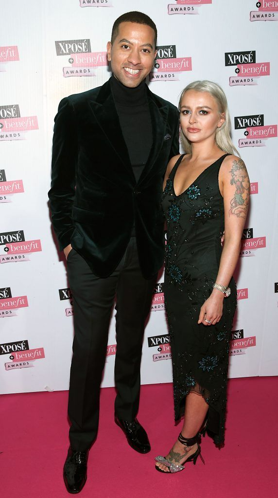 Sean Munsanje and Anita Kus at the inaugural Xpose Benefit Awards that took place in The Mansion House, Dublin to celebrate the best in fashion and entertainment in Ireland. Picture: Brian McEvoy