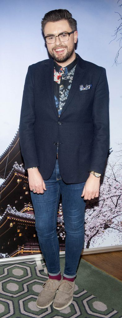 James Butler pictured at Gok Wan and Danielle Mahon's launch of their Fashion and Beauty Collective roadshows in the Westbury Hotel, Dublin. Photo: Patrick O'Leary