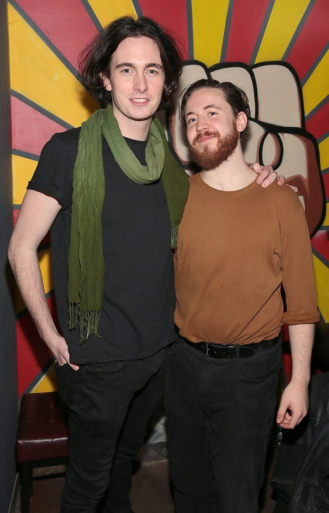 Robbie Fitzgerald and Gerard Ryan pictured at the opening of new entertainment venue R.I.O.T in Aston Quay, Dublin. Photo by Brian McEvoy