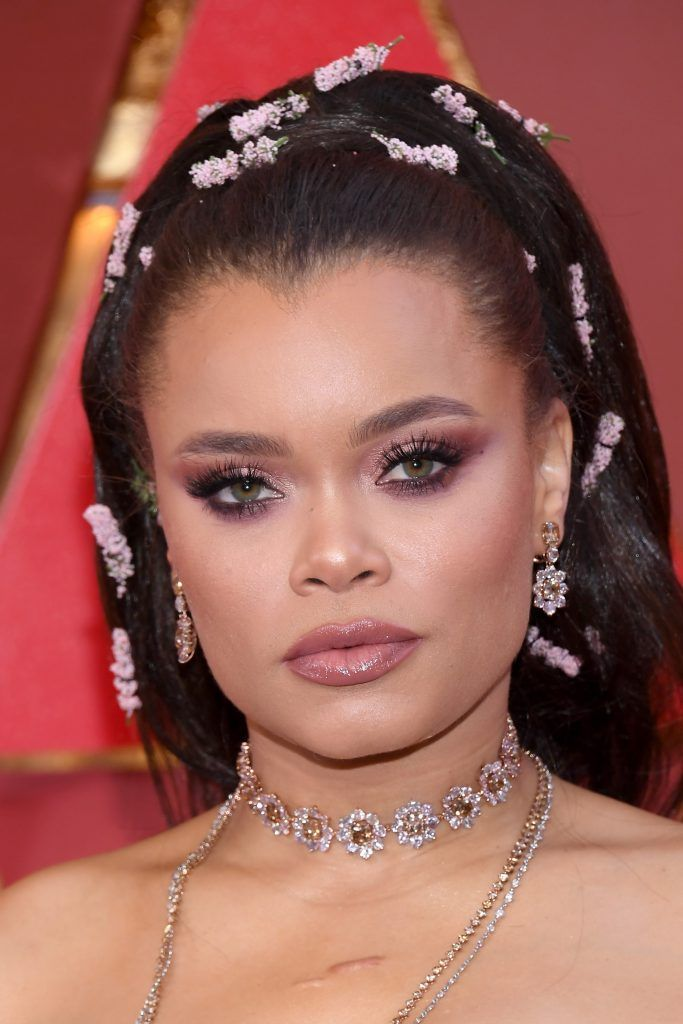 HOLLYWOOD, CA - MARCH 04:  Andra Day attends the 90th Annual Academy Awards at Hollywood & Highland Center on March 4, 2018 in Hollywood, California.  (Photo by Kevork Djansezian/Getty Images)