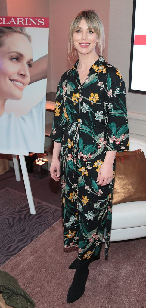Kellie Billings pictured at the launch of Clarins Extra Firming at The Westbury Hotel, Dublin. Pic Brian McEvoy