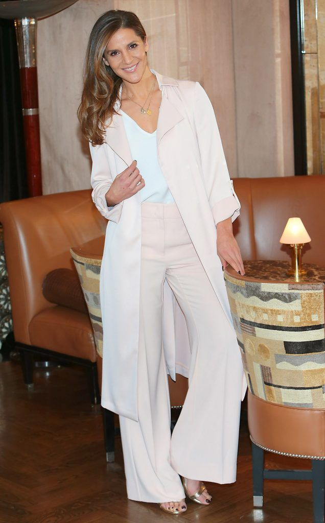 Amanda Byram pictured at the launch of Clarins Extra Firming at The Westbury Hotel, Dublin. Pic Brian McEvoy