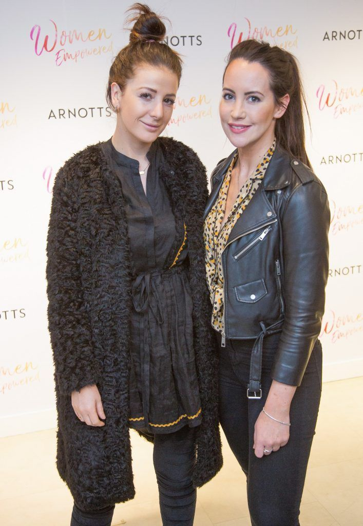 Grace Cahill & Anna Early pictured attending the Arnotts Women Empowered Event. Photo: Anthony Woods