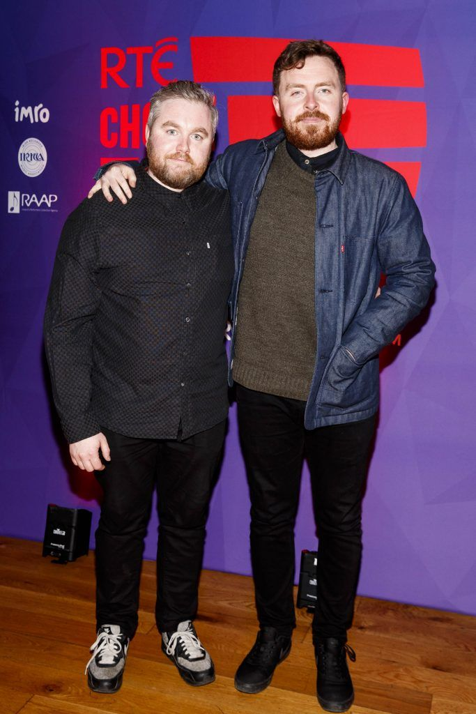 Niall Byrne and Brendan Canty pictured at the RTE Choice Music Prize at Vicar Street, March 8th 2018. Picture by Andres Poveda