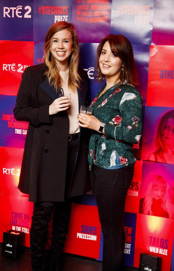 Margaret Harkin and Maureen Woods pictured at the RTE Choice Music Prize at Vicar Street, March 8th 2018. Picture by Andres Poveda