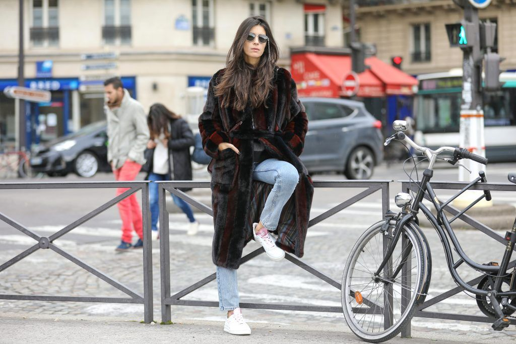 Paris Fashion Week Street style after the Sacai Fall/Winter 2018 Show.  Featuring: Chiara Totire Where: Paris, France When: 05 Mar 2018 Credit: Brian Dowling/WENN.com