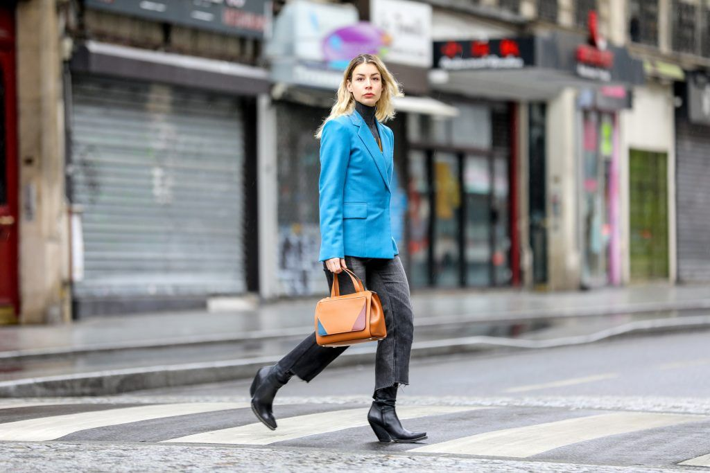 Paris Fashion Week Street style after the Sacai Fall/Winter 2018 Show.  Featuring: Irina Lakicevic Where: Paris, France When: 05 Mar 2018 Credit: Brian Dowling/WENN.com