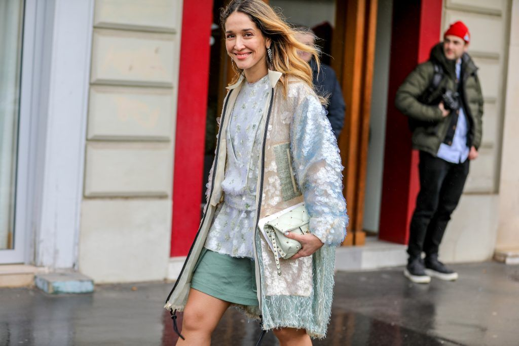 Paris Fashion Week Street style after the Sacai Fall/Winter 2018 Show.  Featuring: Tiany Kirloff Where: Paris, France When: 05 Mar 2018 Credit: Brian Dowling/WENN.com