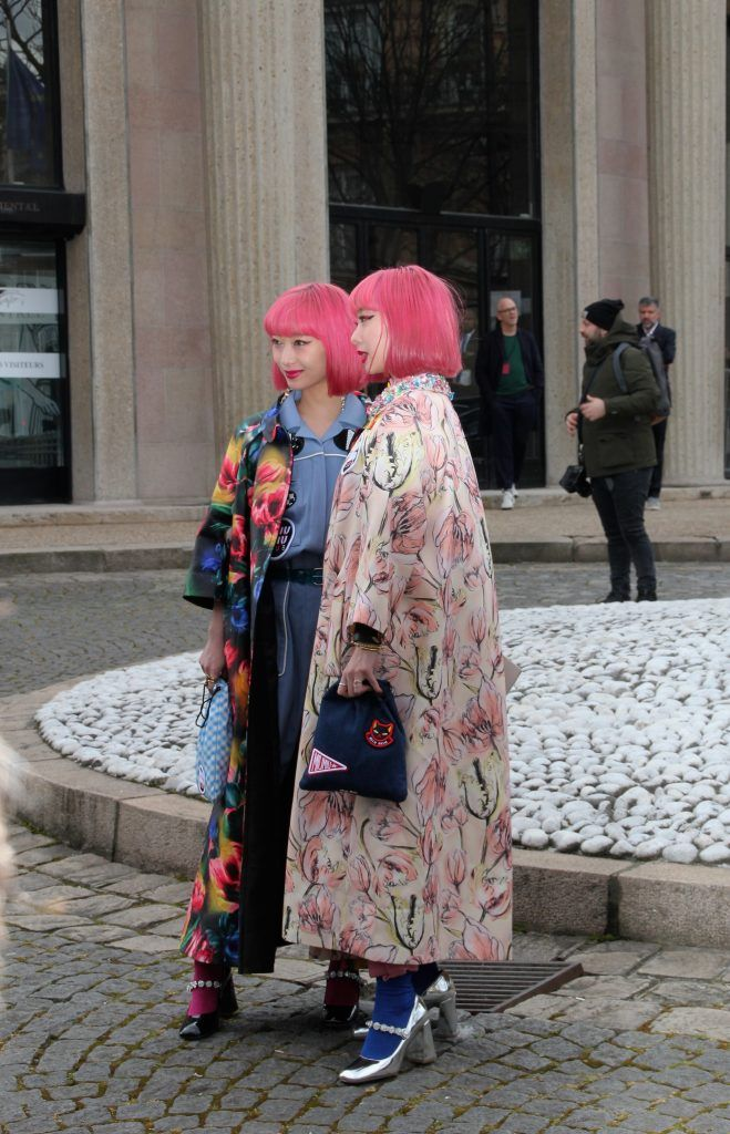 Celebrities attend the presentation of Miu Miu during Paris Fashion Week Autumn/Winter 2018/2019  Featuring: Amiaya Where: Paris, France When: 06 Mar 2018 Credit: WENN.com