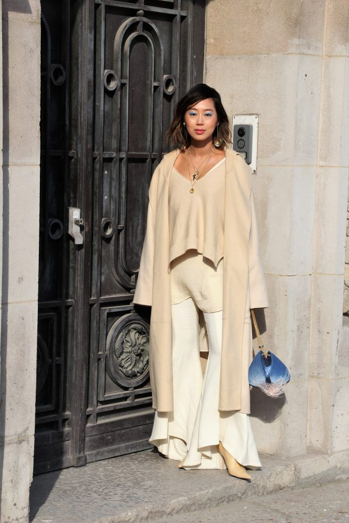 Aimee Song before the Maison Margiela show at the Grand Palais during Paris Fashion Week Womenswear FW18/19 on February 28, 2018 in Paris, France.  Featuring: Aimee Song Where: Paris, France When: 28 Feb 2018 Credit: WENN.com