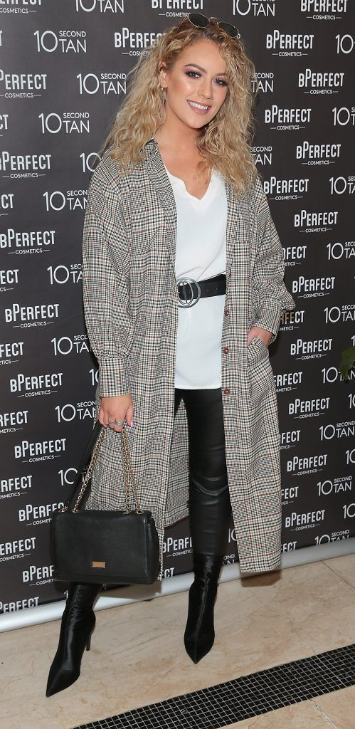 Melissa Riddell at the launch of BPerfect Cosmetics 10 Second Tan Mousse in Wilde Restaurant at The Westbury Hotel, Dublin. Photo: Brian McEvoy