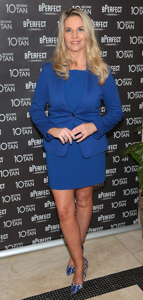 Jules Mahon at the launch of BPerfect Cosmetics 10 Second Tan Mousse in Wilde Restaurant at The Westbury Hotel, Dublin. Photo: Brian McEvoy