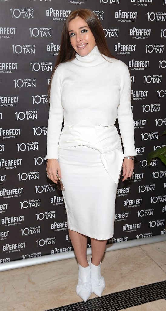 Cathy Martin at the launch of BPerfect Cosmetics 10 Second Tan Mousse in Wilde Restaurant at The Westbury Hotel, Dublin. Photo: Brian McEvoy