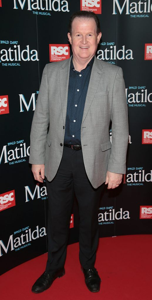 Aonghus McAnally at the opening night of the musical Matilda at The Bord Gais Energy Theatre, Dublin. Photo: Brian McEvoy