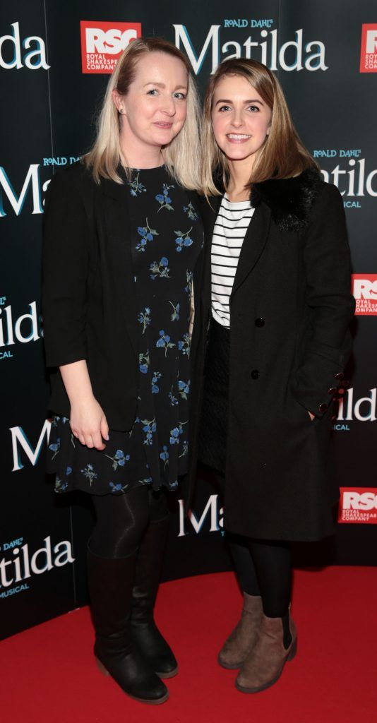 Caroline Shaw and Aislinn Shaw at the opening night of the musical Matilda at The Bord Gais Energy Theatre, Dublin. Photo: Brian McEvoy