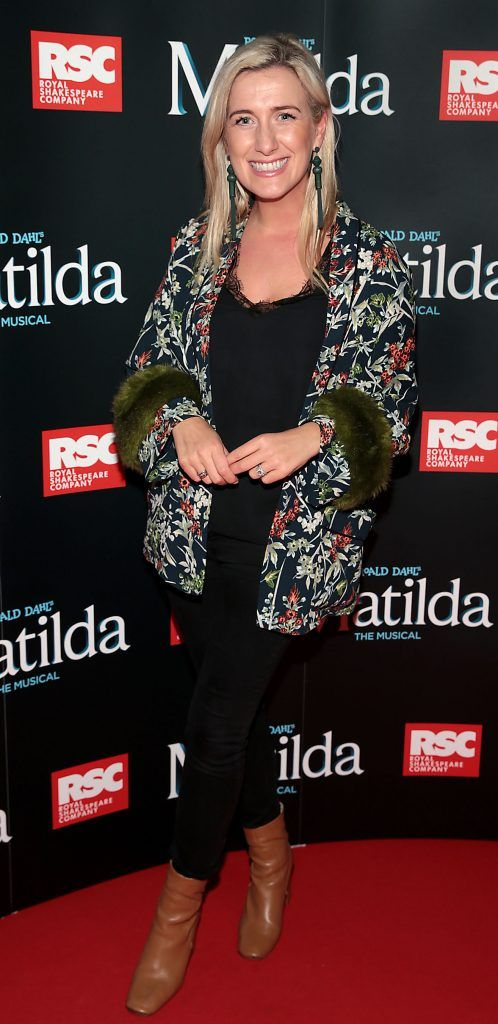 Ciara Doherty at the opening night of the musical Matilda at The Bord Gais Energy Theatre, Dublin. Photo: Brian McEvoy