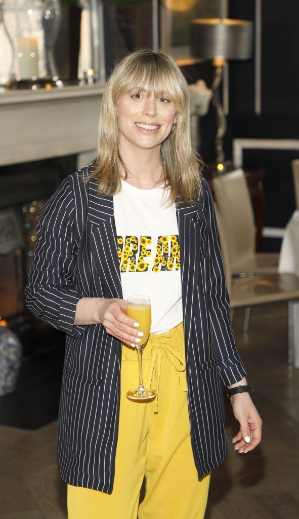 Kellie Billings at the launch of No7 Laboratories and No7 Laboratories Line Correcting Booster Serum at 25 Fitzwilliam Place. Photo Kieran Harnett