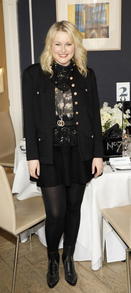 Lorna Weightman at the launch of No7 Laboratories and No7 Laboratories Line Correcting Booster Serum at 25 Fitzwilliam Place. Photo Kieran Harnett