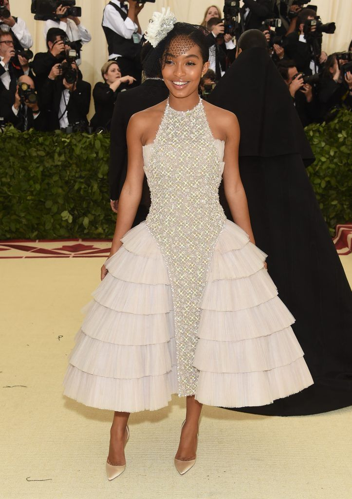 NEW YORK, NY - MAY 07:  Yara Shahidi attends the Heavenly Bodies: Fashion & The Catholic Imagination Costume Institute Gala at The Metropolitan Museum of Art on May 7, 2018 in New York City.  (Photo by Jamie McCarthy/Getty Images)