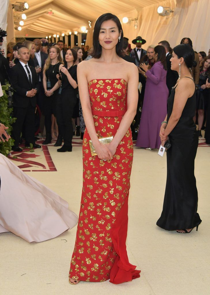 NEW YORK, NY - MAY 07:  Liu Wen attends the Heavenly Bodies: Fashion & The Catholic Imagination Costume Institute Gala at The Metropolitan Museum of Art on May 7, 2018 in New York City.  (Photo by Neilson Barnard/Getty Images)