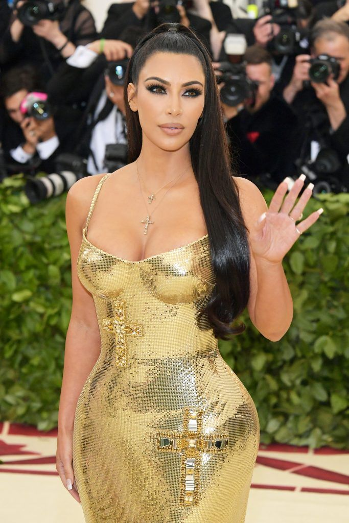 NEW YORK, NY - MAY 07:  Kim Kardashian attends the Heavenly Bodies: Fashion & The Catholic Imagination Costume Institute Gala at The Metropolitan Museum of Art on May 7, 2018 in New York City.  (Photo by Neilson Barnard/Getty Images)