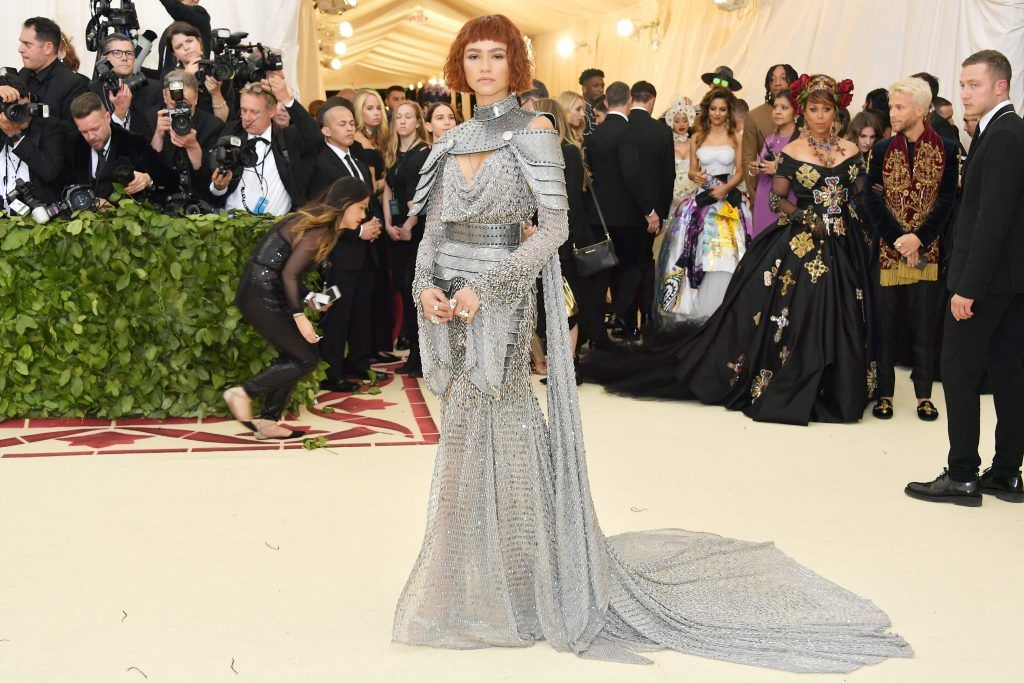 NEW YORK, NY - MAY 07:  Zendaya attends the Heavenly Bodies: Fashion & The Catholic Imagination Costume Institute Gala at The Metropolitan Museum of Art on May 7, 2018 in New York City.  (Photo by Neilson Barnard/Getty Images)