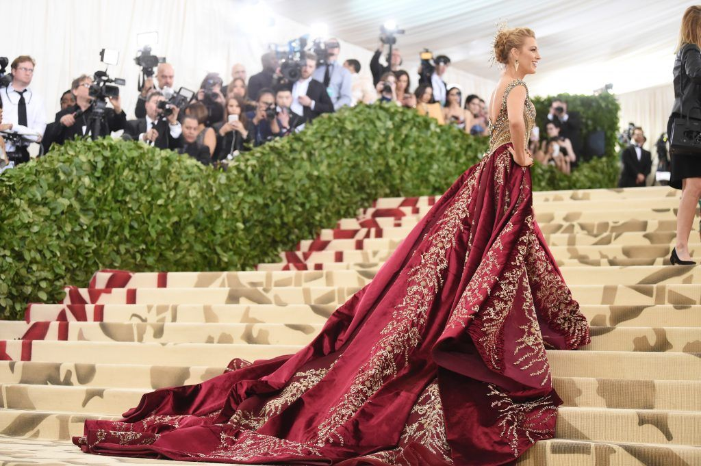 NEW YORK, NY - MAY 07:  Blake Lively attends the Heavenly Bodies: Fashion & The Catholic Imagination Costume Institute Gala at The Metropolitan Museum of Art on May 7, 2018 in New York City.  (Photo by Jamie McCarthy/Getty Images)