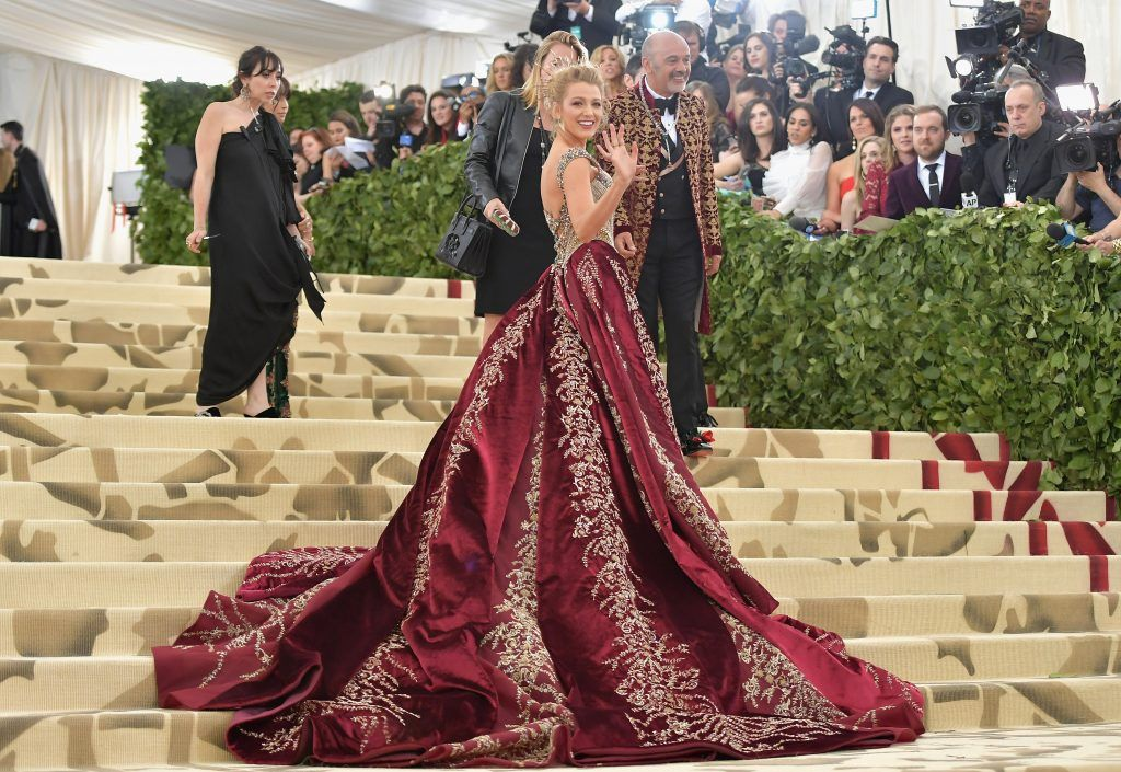 NEW YORK, NY - MAY 07:  Blake Lively attends the Heavenly Bodies: Fashion & The Catholic Imagination Costume Institute Gala at The Metropolitan Museum of Art on May 7, 2018 in New York City.  (Photo by Neilson Barnard/Getty Images)