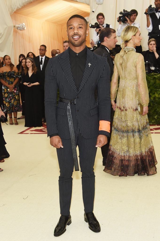 NEW YORK, NY - MAY 07:  Michael B. Jordan attends the Heavenly Bodies: Fashion & The Catholic Imagination Costume Institute Gala at The Metropolitan Museum of Art on May 7, 2018 in New York City.  (Photo by Jamie McCarthy/Getty Images)