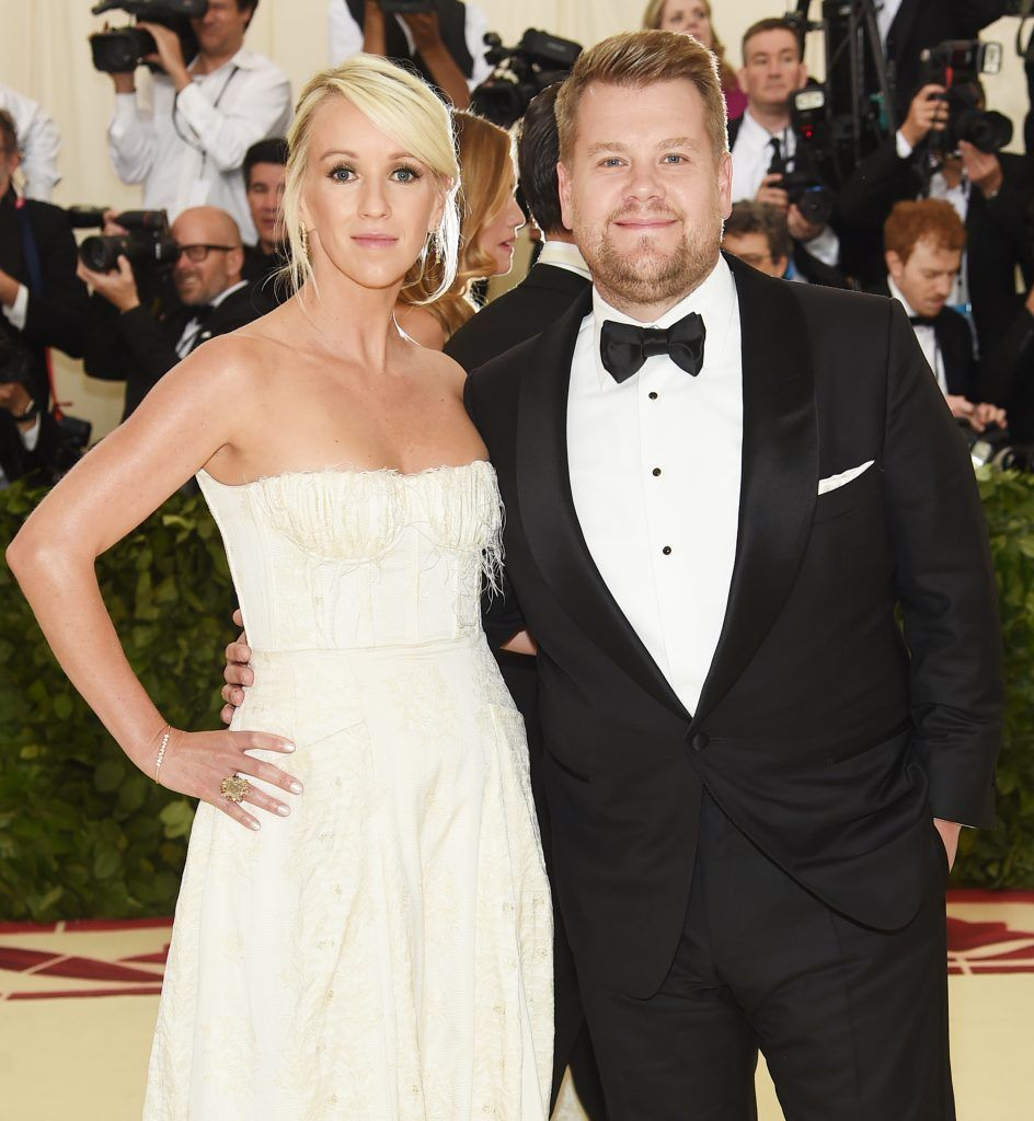 NEW YORK, NY - MAY 07:  Julia Carey and James Corden attend the Heavenly Bodies: Fashion & The Catholic Imagination Costume Institute Gala at The Metropolitan Museum of Art on May 7, 2018 in New York City.  (Photo by Jamie McCarthy/Getty Images)