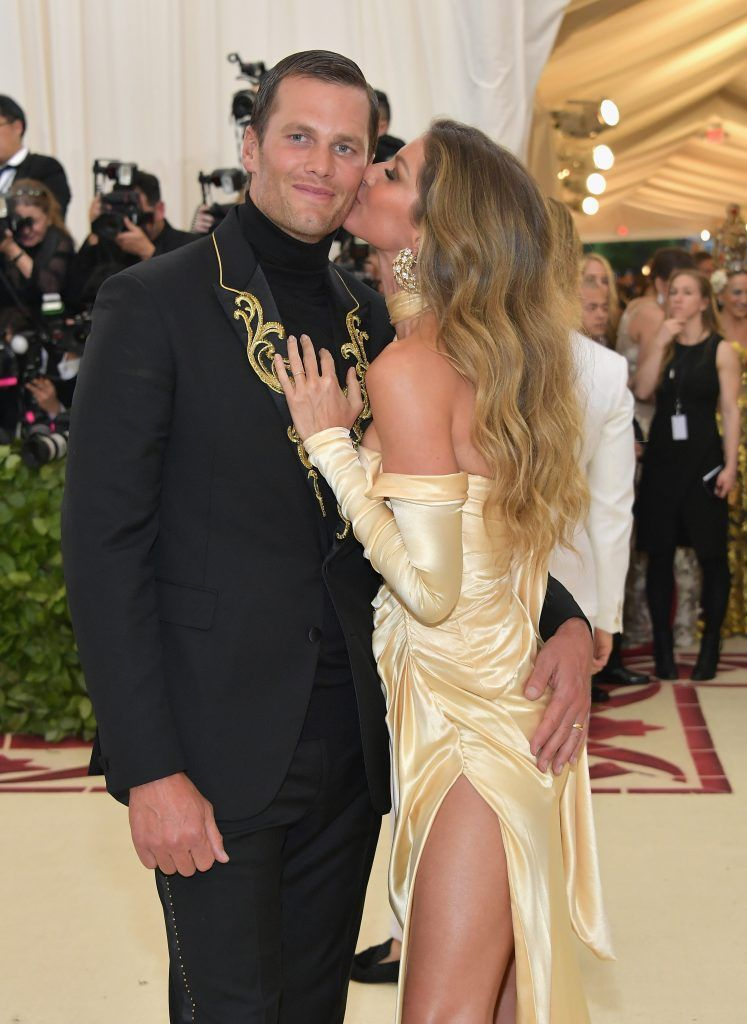 NEW YORK, NY - MAY 07:  Tom Brady and Gisele Bundchen attends the Heavenly Bodies: Fashion & The Catholic Imagination Costume Institute Gala at The Metropolitan Museum of Art on May 7, 2018 in New York City.  (Photo by Neilson Barnard/Getty Images)