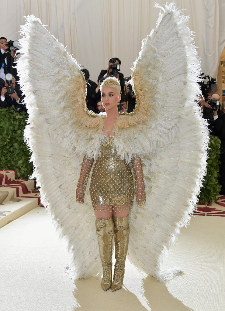 NEW YORK, NY - MAY 07:  Katy Perry attends the Heavenly Bodies: Fashion & The Catholic Imagination Costume Institute Gala at The Metropolitan Museum of Art on May 7, 2018 in New York City.  (Photo by Neilson Barnard/Getty Images)