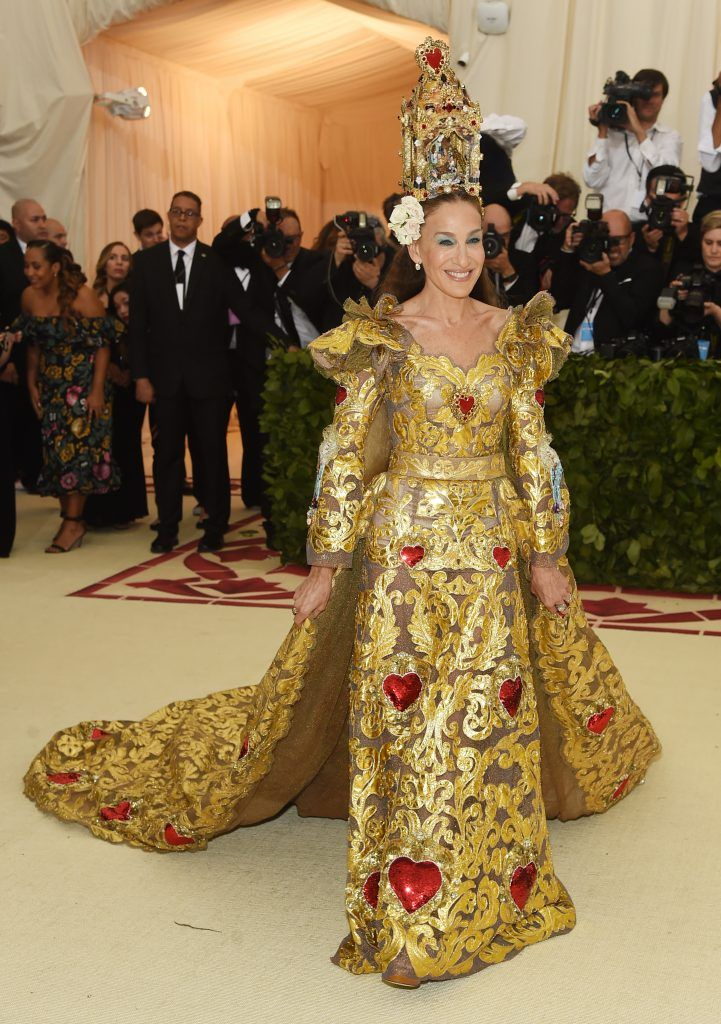 NEW YORK, NY - MAY 07:  Sarah Jessica Parker attends the Heavenly Bodies: Fashion & The Catholic Imagination Costume Institute Gala at The Metropolitan Museum of Art on May 7, 2018 in New York City.  (Photo by Jamie McCarthy/Getty Images)