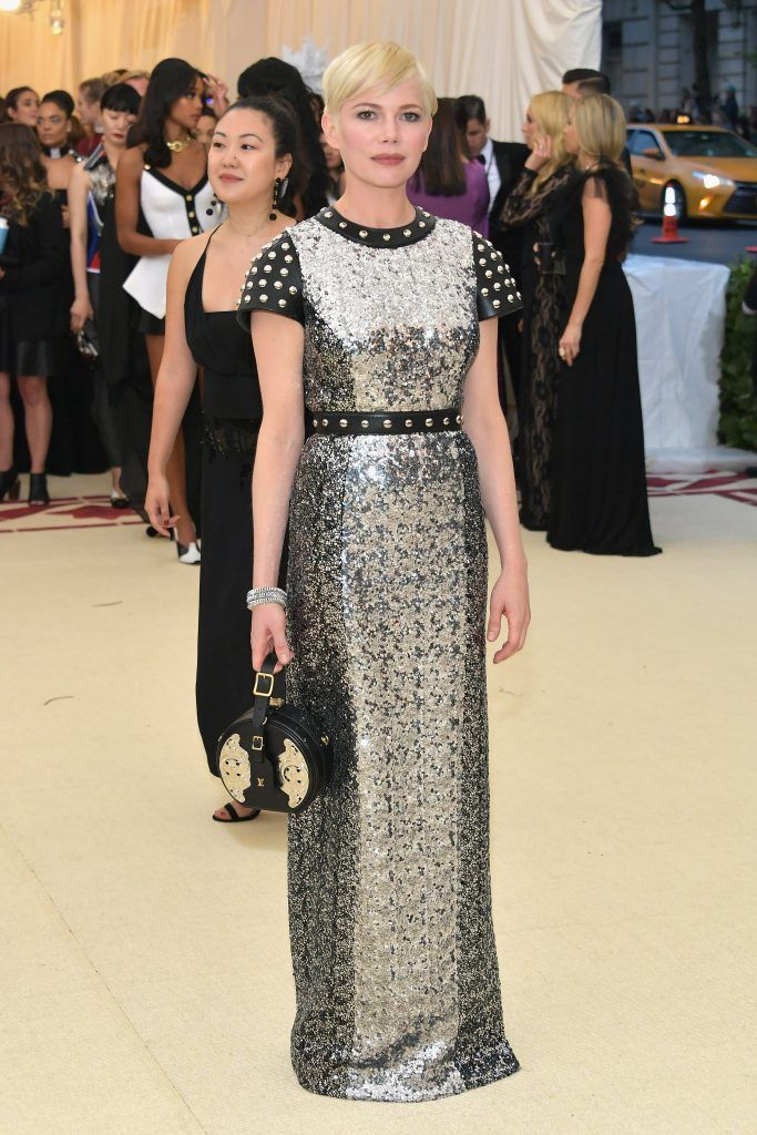NEW YORK, NY - MAY 07:  Michelle Williams attends the Heavenly Bodies: Fashion & The Catholic Imagination Costume Institute Gala at The Metropolitan Museum of Art on May 7, 2018 in New York City.  (Photo by Neilson Barnard/Getty Images)