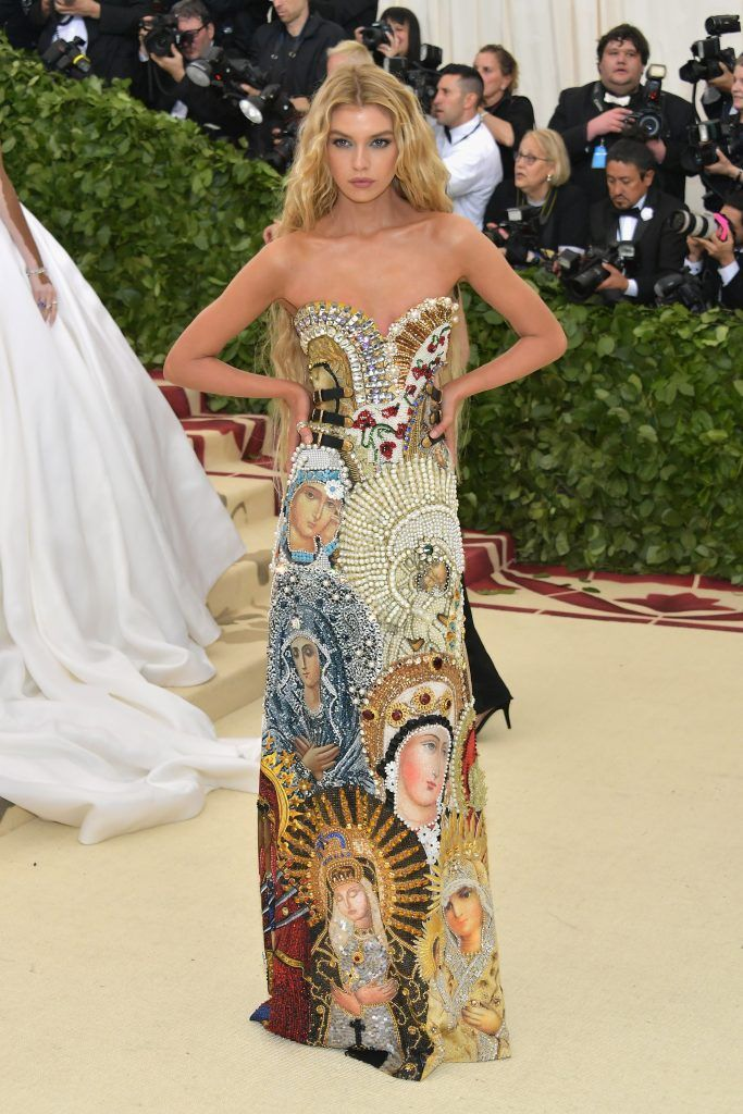 NEW YORK, NY - MAY 07:  Stella Maxwell attends the Heavenly Bodies: Fashion & The Catholic Imagination Costume Institute Gala at The Metropolitan Museum of Art on May 7, 2018 in New York City.  (Photo by Neilson Barnard/Getty Images)