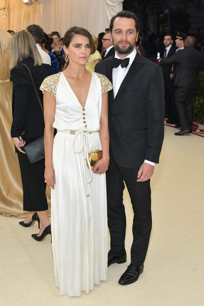 NEW YORK, NY - MAY 07:  Keri Russell and Matthew Rhys attend the Heavenly Bodies: Fashion & The Catholic Imagination Costume Institute Gala at The Metropolitan Museum of Art on May 7, 2018 in New York City.  (Photo by Neilson Barnard/Getty Images)